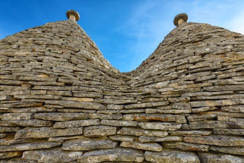 Tetto conico di Trullo Città di Alberobello fotografia stock