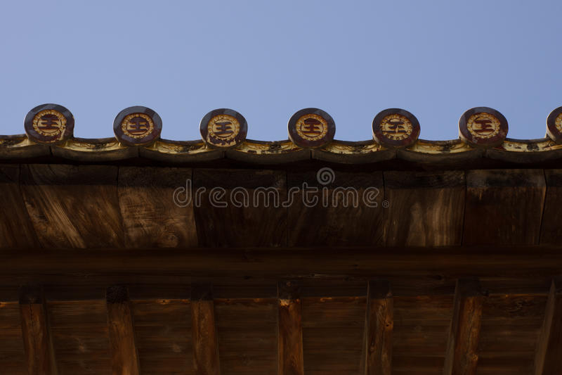 Tetto del santuario di Senjokaku immagini stock libere da diritti