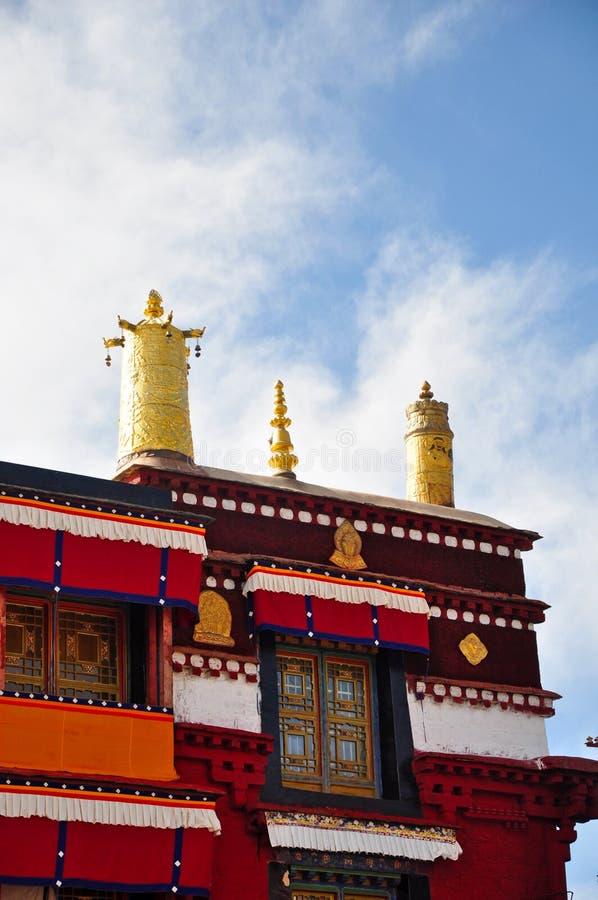 Tetto del tempio di Ramoche fotografie stock libere da diritti
