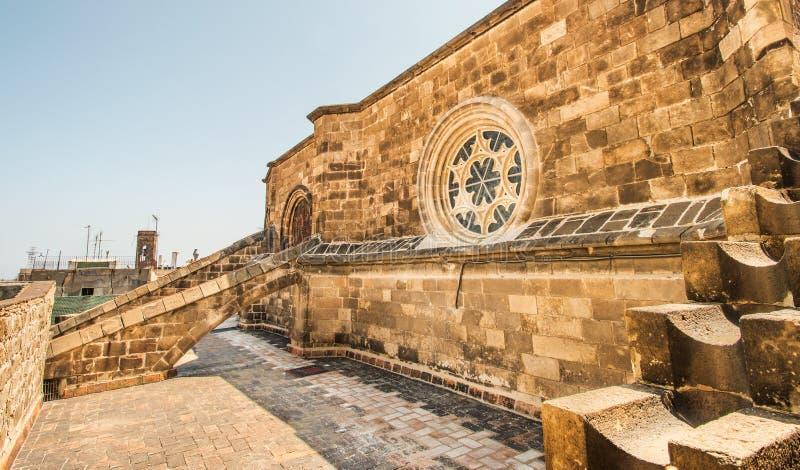Tetto della cattedrale di Santa Eulalia fotografia stock