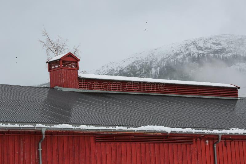 Tetto della costruzione del museo della segheria, Namsos fotografie stock
