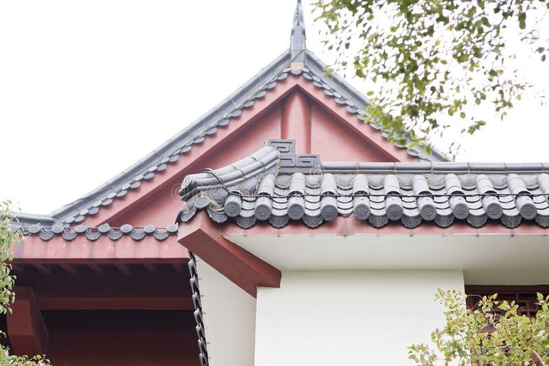 Tetto della costruzione di stile cinese fotografia stock