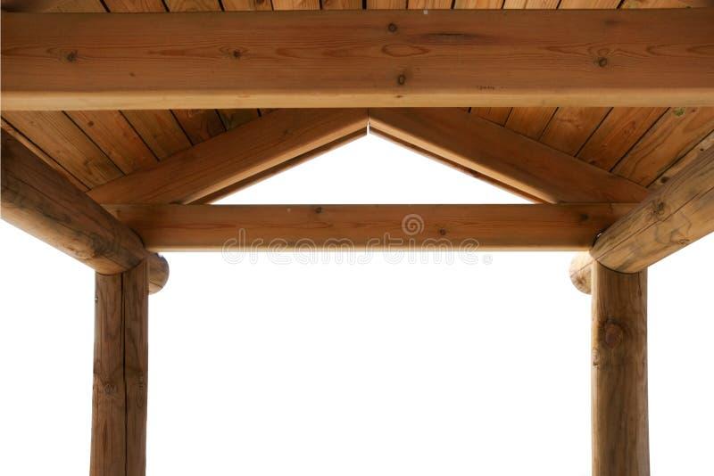 Tetto di legno del chiosco fotografia stock