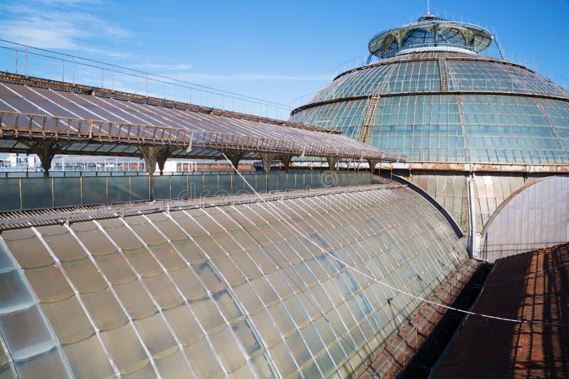 Tetto di vetro della galleria Vittorio Emanuele a Milano immagini stock libere da diritti