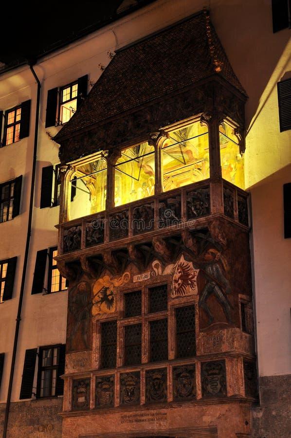 Tetto dorato a Innsbruck fotografia stock