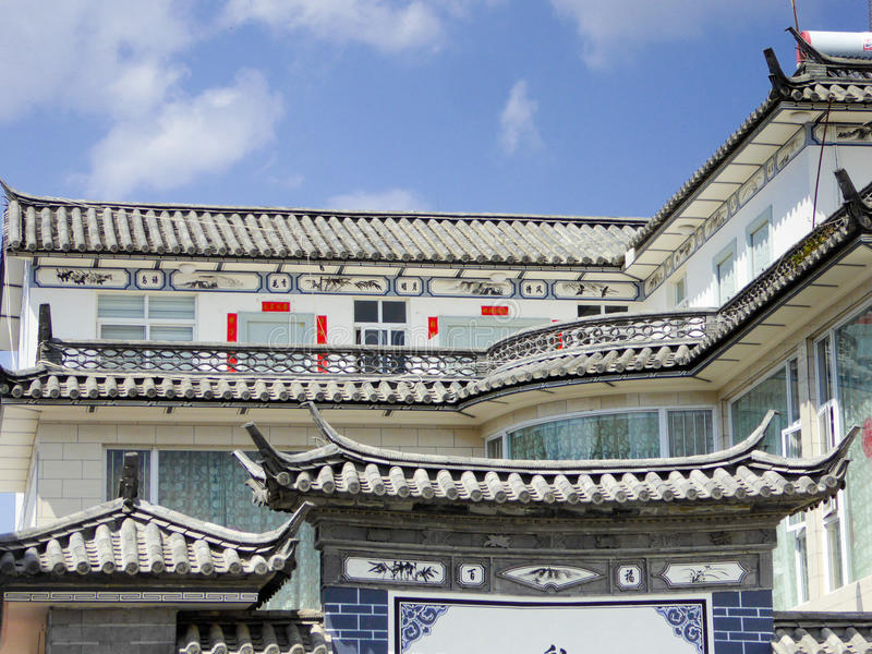 Tetto edifici di XiZhou fotografia stock libera da diritti