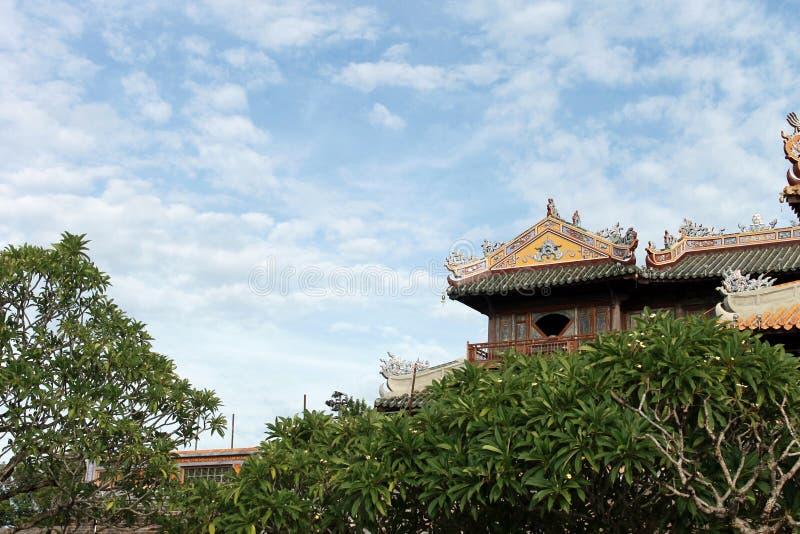 Tetto imperiale del tempio della città immagini stock libere da diritti