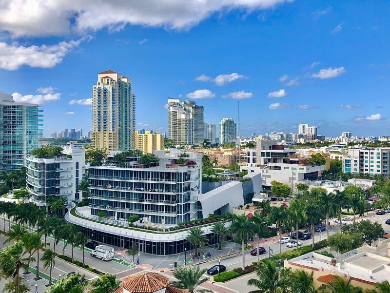 Tetto a Miami Beach fotografia stock