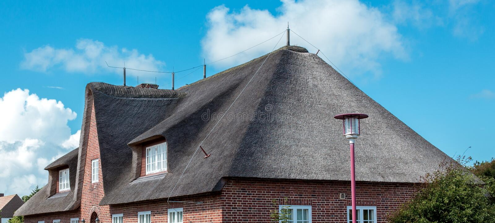 Tetto Thatched immagini stock