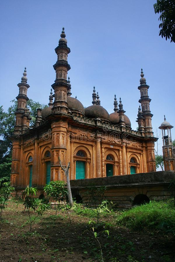 Tetulia Jame Masjid stock afbeelding