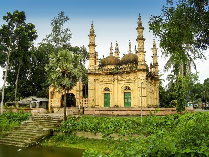 Tetulia shahi zes koepelmoskee in satkhira, Bangladesh stock foto