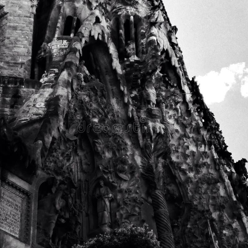 Teufel auf BasÃlica De-La Sagrada FamÃlia stockbilder