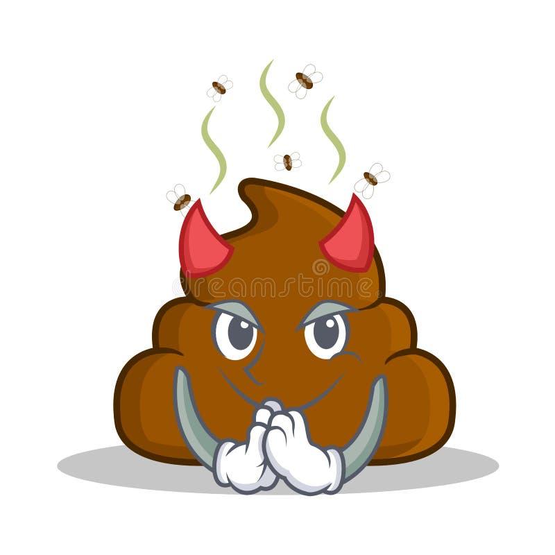 Teufel-Heck Emoticon-Charakterkarikatur vektor abbildung