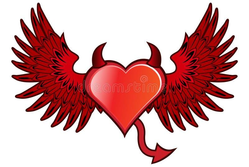Teufel-Herz lizenzfreie abbildung