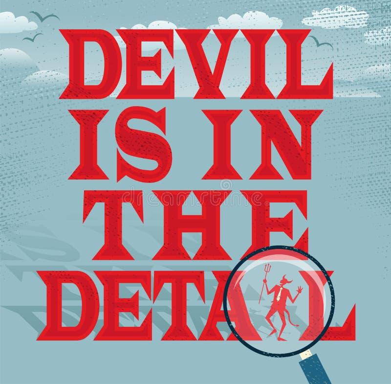 Teufel ist in der Detail-Zusammenfassungs-Geschäfts-Reihe lizenzfreie abbildung