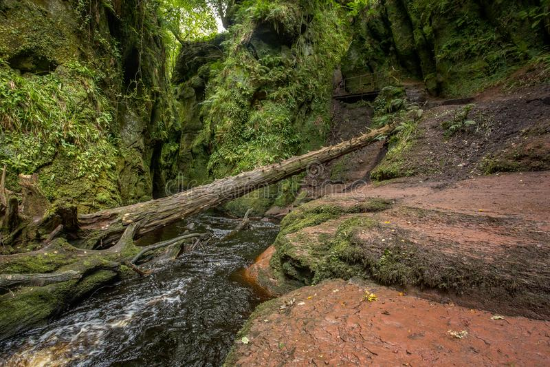Teufel-Kanzel, Schottland lizenzfreie stockfotografie