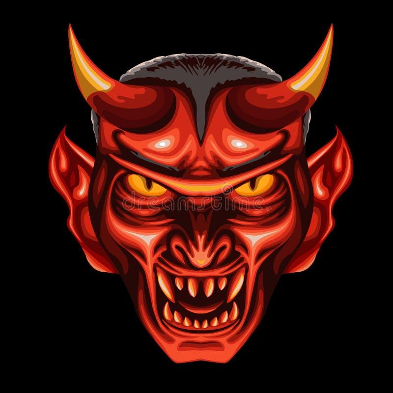 Teufel-Kopf lizenzfreie abbildung