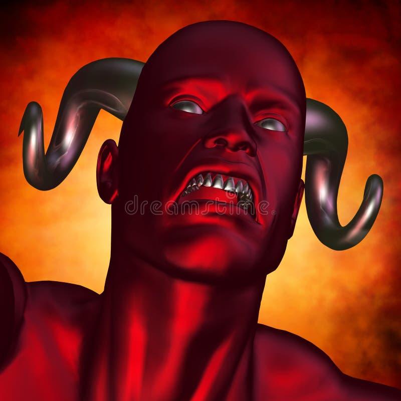 Teufel-Kopf stock abbildung