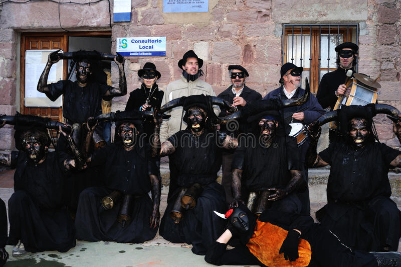 Teufel LUZON-Karneval. SPANIEN stockfotografie