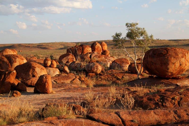 Teufel-Marmore (Karlu Karlu) Nordterritorium, Australien lizenzfreies stockbild