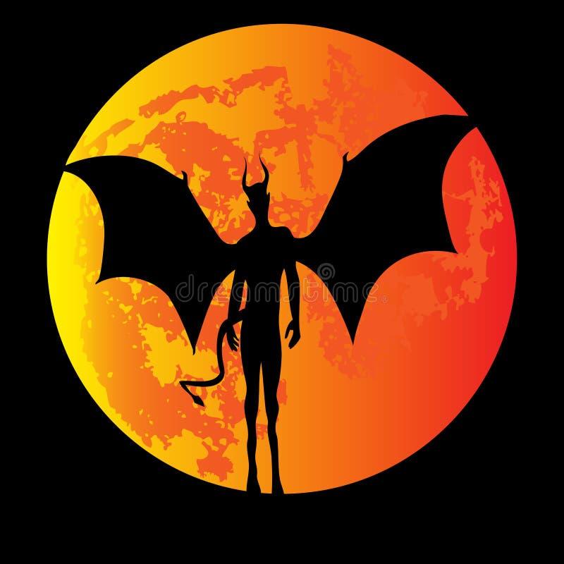Teufel-Mond vektor abbildung