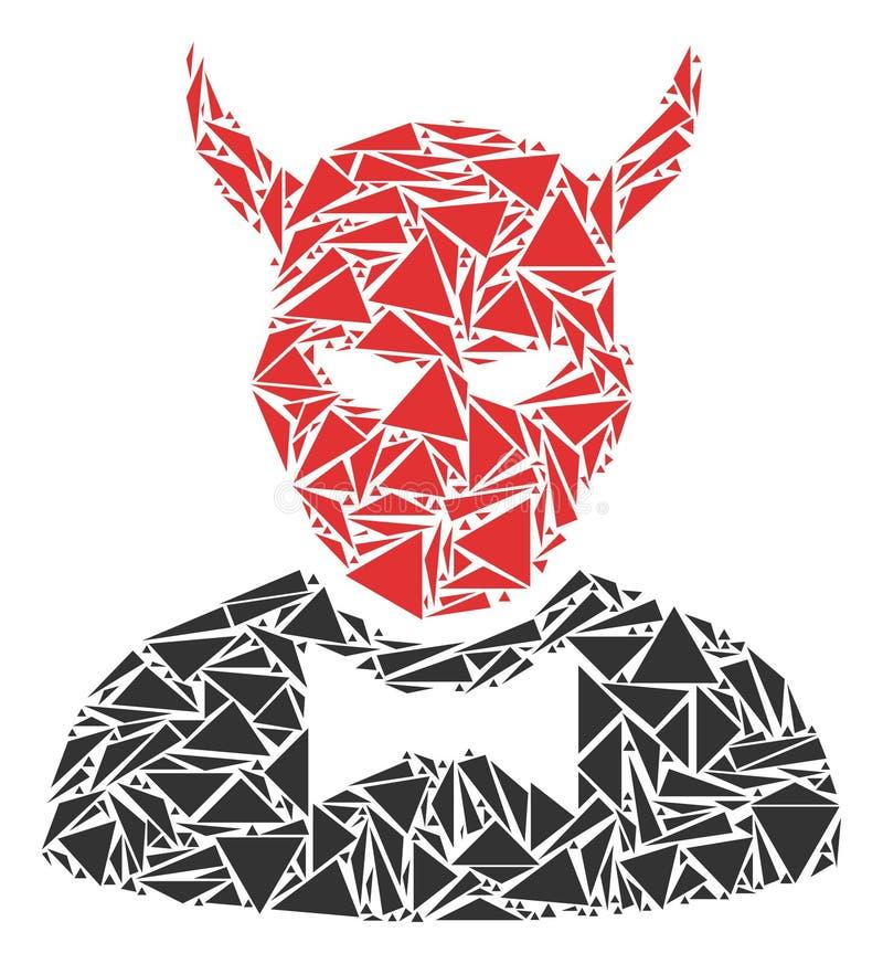 Teufel-Mosaik von Dreiecken stock abbildung
