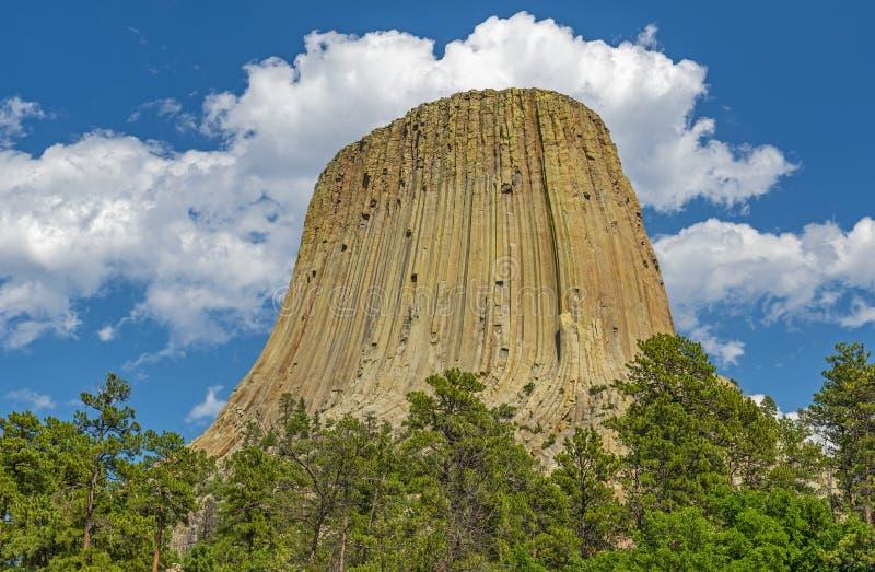 Teufel ragen in Wyoming, USA hoch stockbilder