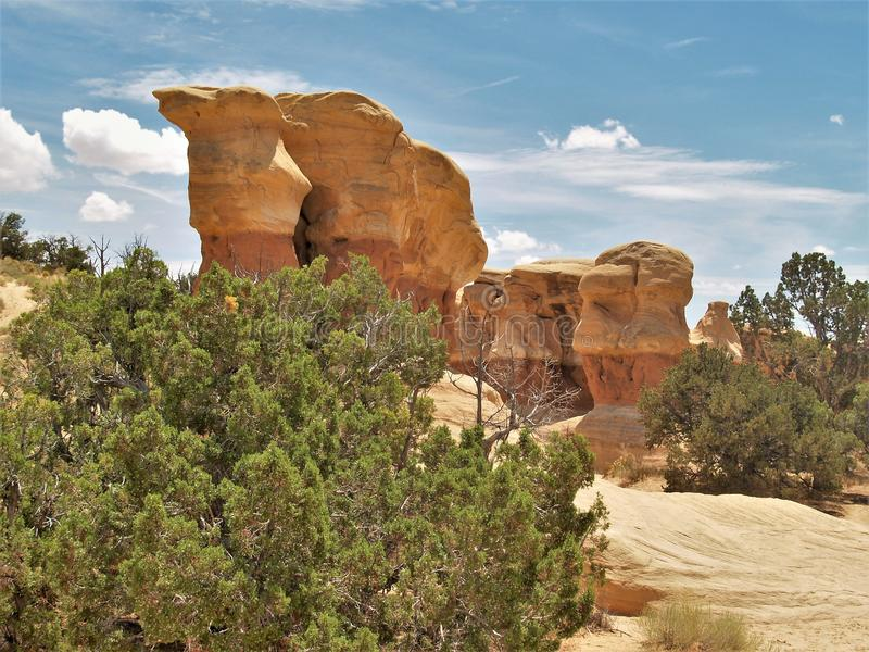 Teufel ` s Garten-Sandsteinformationen lizenzfreies stockbild