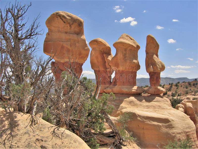 Teufel ` s Garten-Sandsteinformationen stockbilder