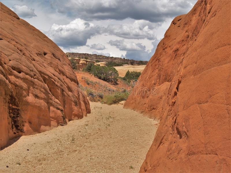 Teufel ` s Garten-Sandsteinformationen lizenzfreie stockfotografie