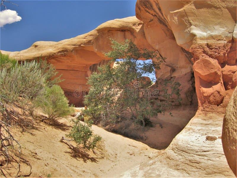 Teufel ` s Garten-Sandsteinformationen lizenzfreies stockfoto