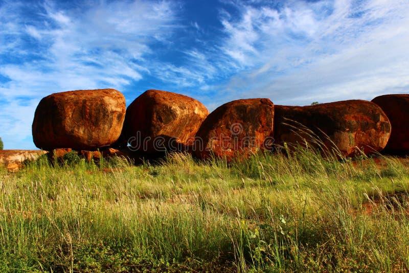 Teufel ` s Marmore, Nordterritorium lizenzfreie stockfotografie