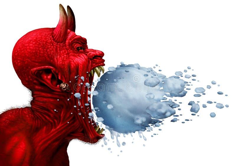 Teufel-Schrei lizenzfreie abbildung