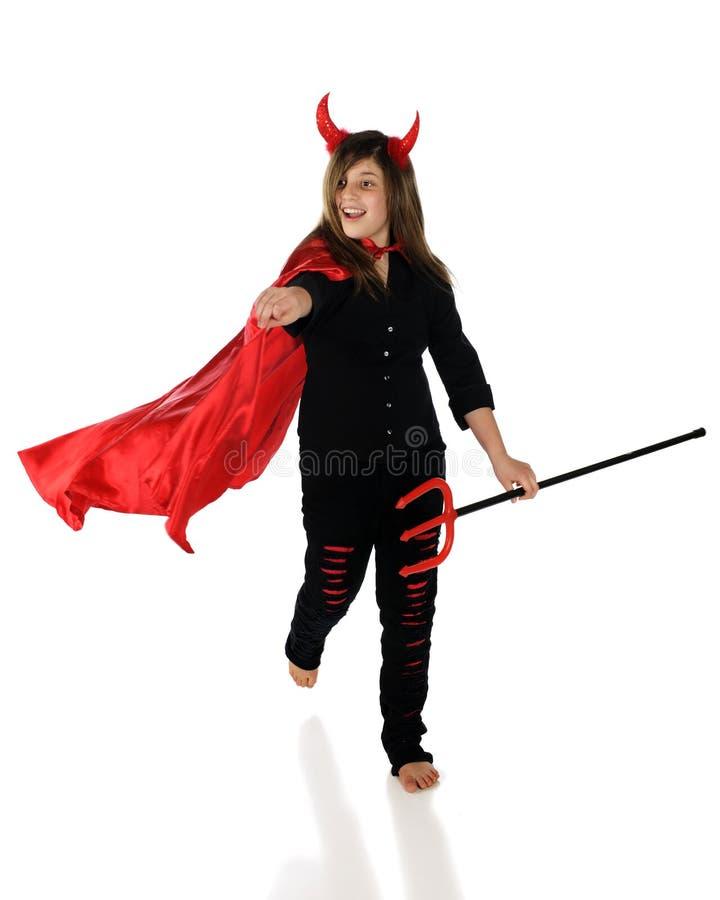 Teufel unterwegs stockfoto