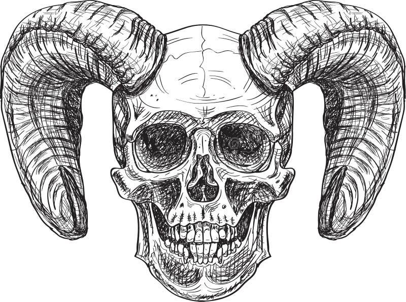 Teufelschädel vektor abbildung