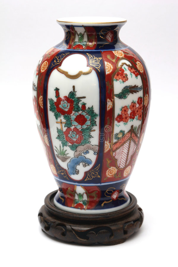 Teurer China-Vase stockfoto