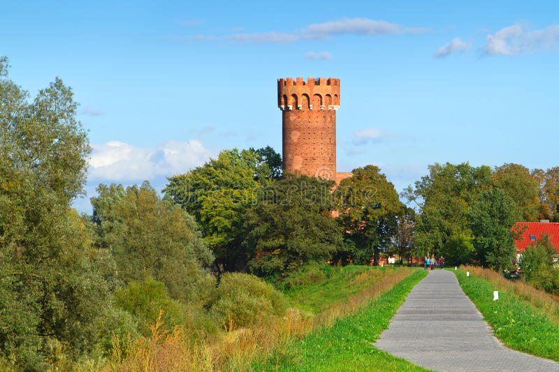 Download Teutonic Castle In Swiecie In Sunny Day Stock Image - Image of famous, order: 27040027