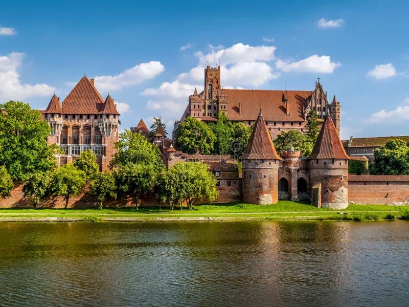 Teutonic Malbork-kasteel, Polen stock foto's