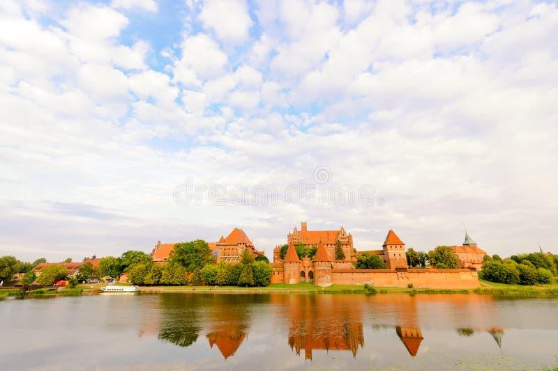 Teutonic Malbork-Schloss stockfotografie