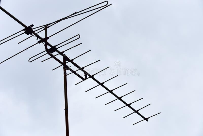 Tevê da antena imagem de stock