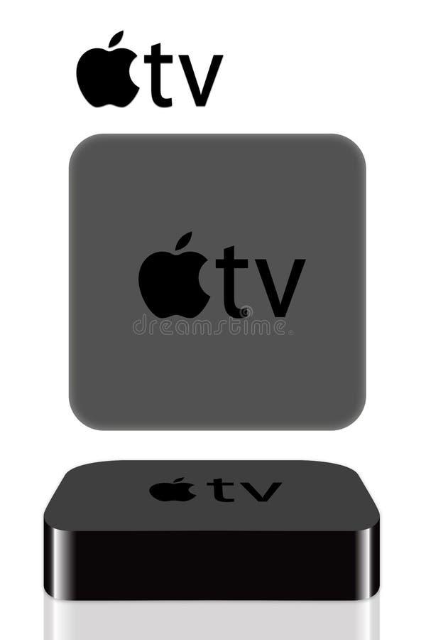 Tevê de Apple ilustração stock