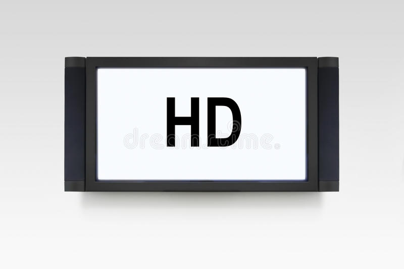 TEVÊ DE HD imagem de stock