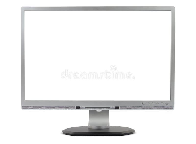 Tevê de prata do monitor imagem de stock