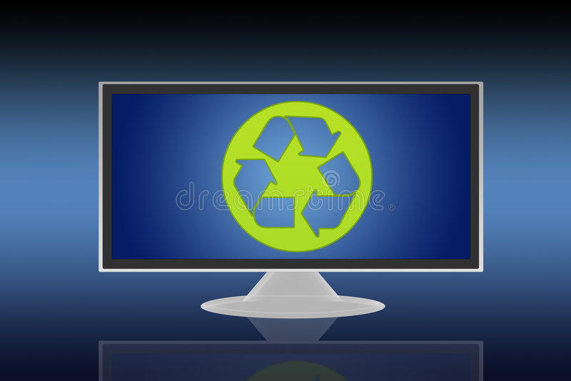 Tevê do LCD ilustração royalty free