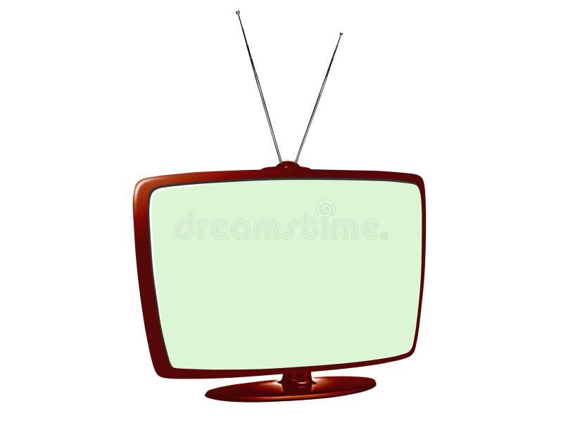 Tevê do LCD com antena ilustração do vetor