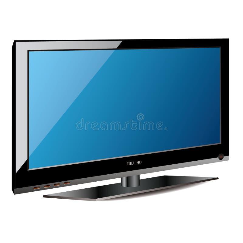 Tevê do LCD do plasma ilustração royalty free