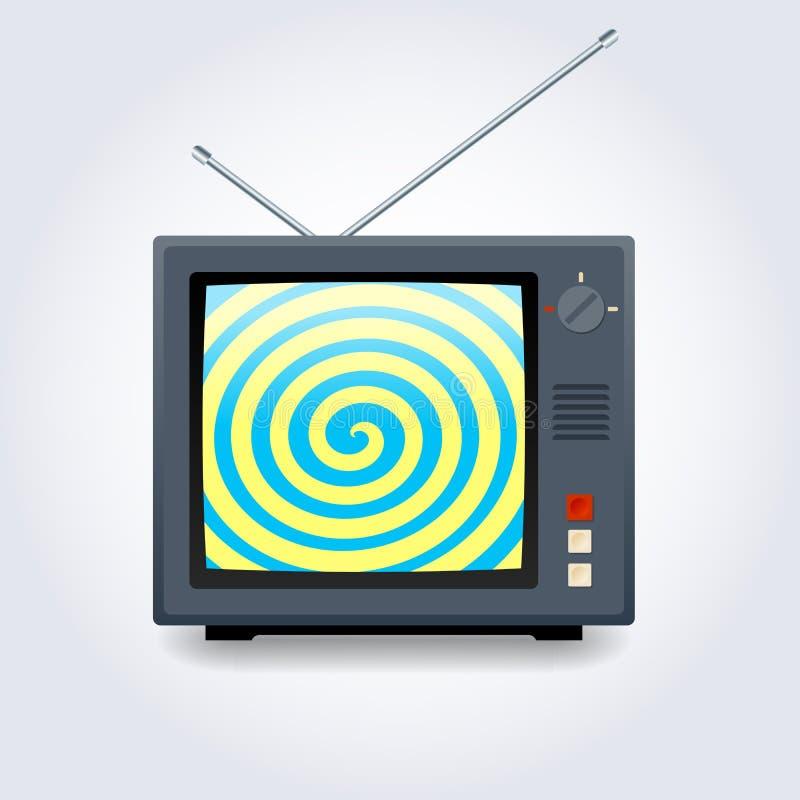 Tevê hipnótica ilustração stock