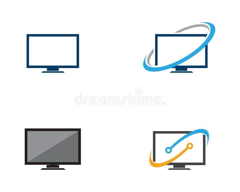 Tevê, LCD, diodo emissor de luz, ilustração do vetor do ícone do monitor ilustração royalty free