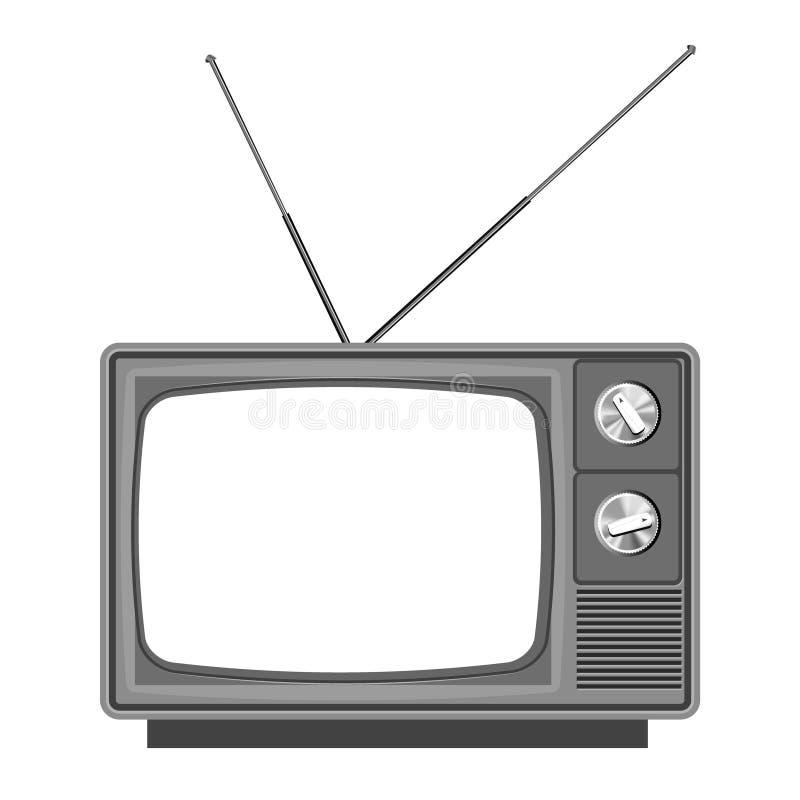 Tevê velha - televisão ilustração stock
