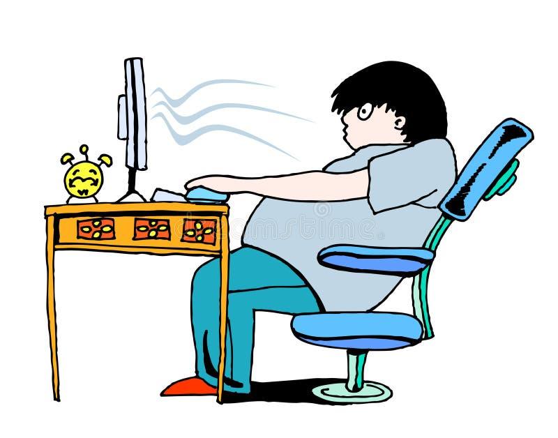 Teveel computer stock illustratie